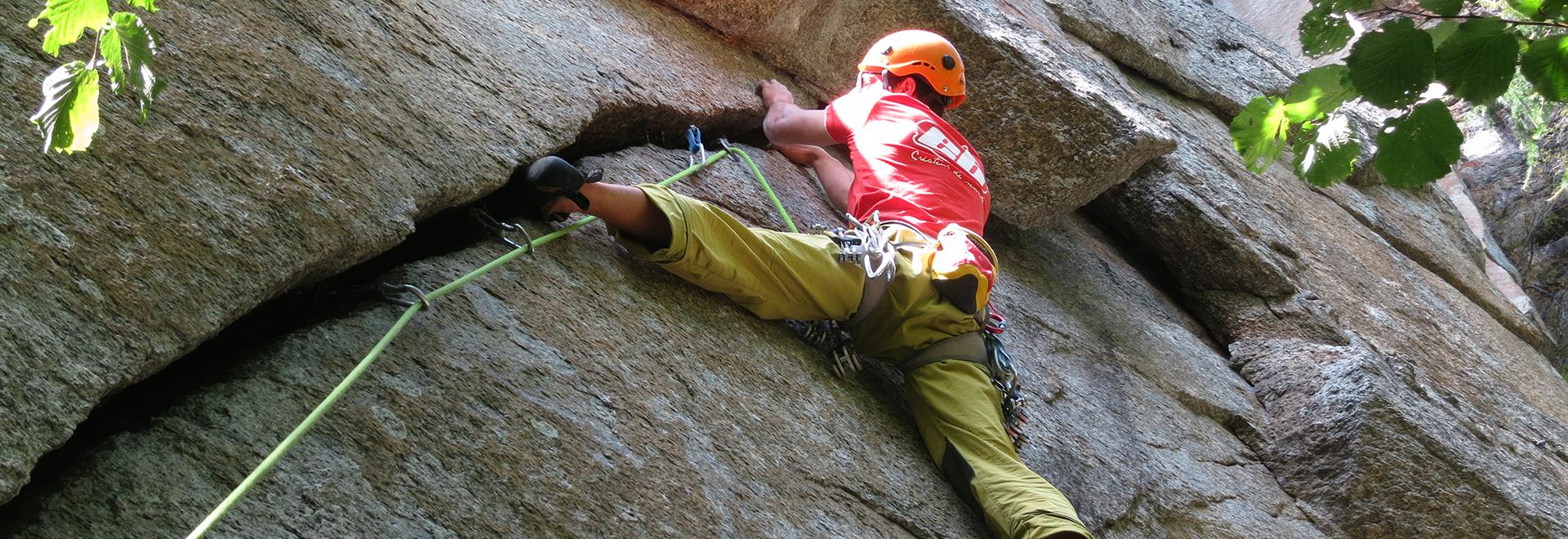 Corso di arrampicata TRAD – modulo avanzato