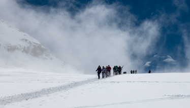 Hiking on the Mont Blanc Glacier