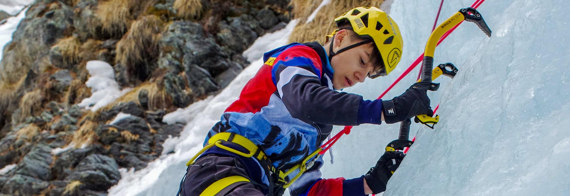 Arrampicata su ghiaccio a Cogne