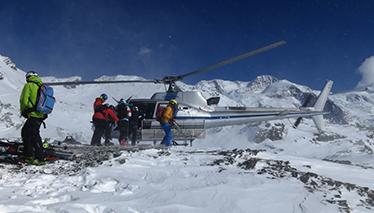 Heliski: Tour del Monte Rosa