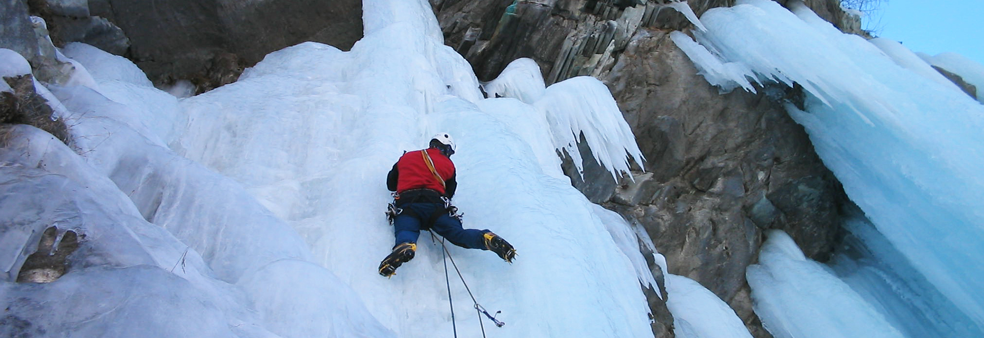Icefalls in Aosta Valley