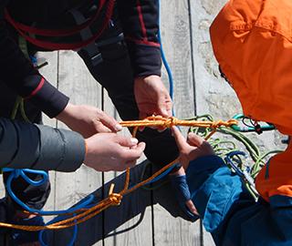Glacier rescue techniques